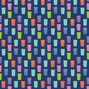 Tea Glasses, on blue