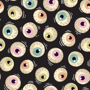 Halloween - Jiggling Eyeballs-Black