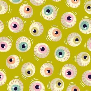 Halloween - Jiggling Eyeballs-Slime Green