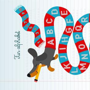 Tea towel • Fun dog alphabet
