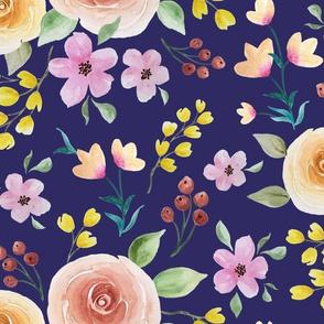 roses with Berries Purple field