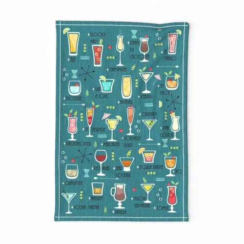 """Let's Drink to the ABC's! *Requires 18"""" x 27""""Fat Quarter"""