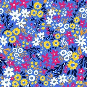 Rustic Floral (Blue)