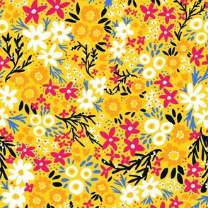 Rustic Floral (Yellow)