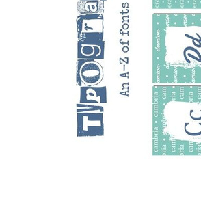ABC teatowel - typography