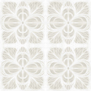 shibori lotus flower linen sand 9 inch