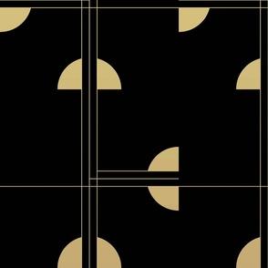Art Deco Cat Eye Pattern / Large