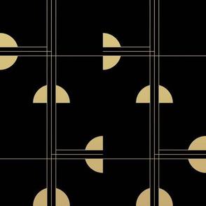 Art Deco Cat Eye Pattern / Small