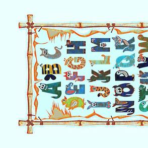 Alphabet Mosaic - tea towel