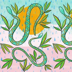 Desert snakes- pink background