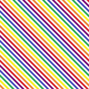 Crayon Stripes on White (diagonal)