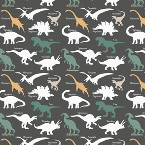 Earth tones Dinosaurs with names