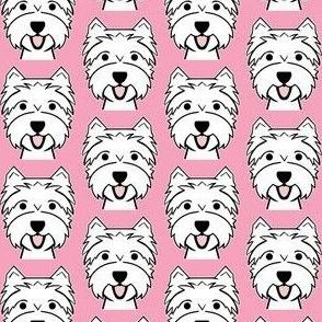 Westies on pink