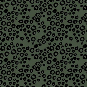 Little animal print texture reptile spots and bubbles cameo green