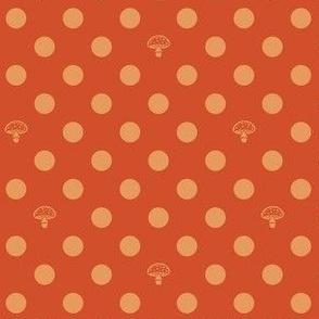 Polkadot Mushrooms - orange