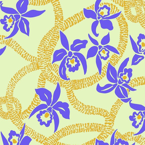 Ilima Lei and Orchid-Yellow and purple
