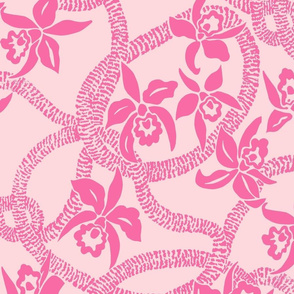 textile-Ilima Lei and Orchid final-pink and beige