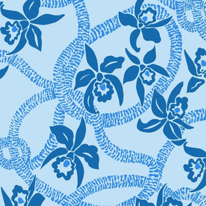 textile-Ilima Lei and Orchid final-2-toned baby blue