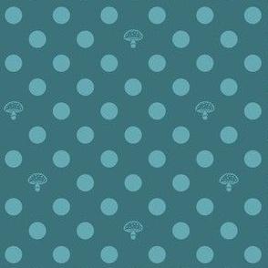 Polkadot Mushrooms - turquoise