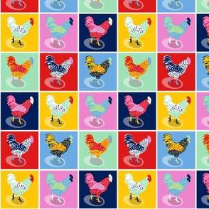 Pop Art Chickens - Custom Size