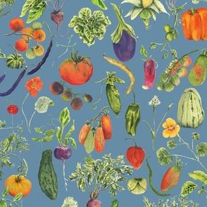 vegetable fabric blue