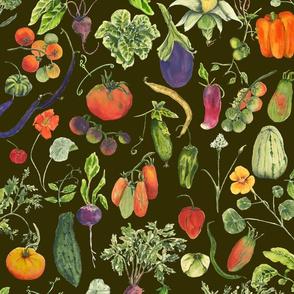 vegetable fabric deep olive