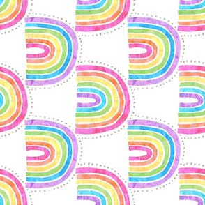 Rainbow arch white  Vertical