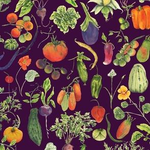 vegetable fabric deep purple