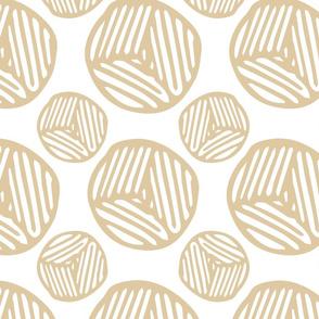 Blockprint Circles  - Toffee (large)