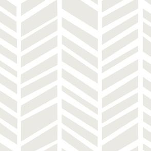 Herringbone Macro M+M White Sand by Friztin