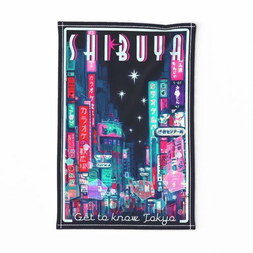 Shibuya Travel Towel