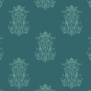 Auspice Marian Design, Queen Of Heaven Teal