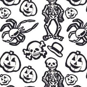 Skeleton pattern sticker