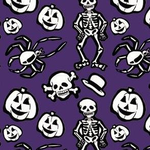 Skeleton pattern purple