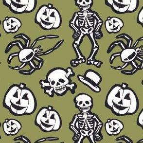 Skeleton pattern green