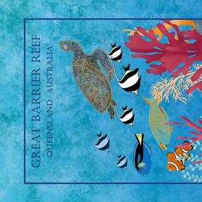 Great Barrier Reef.Tea Towel