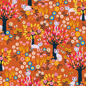 Kitty Cat in the forest - autumn