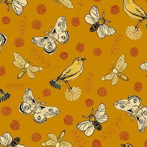 Songbirds and Butterflies Gold