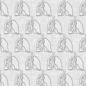 lungs on linen greyscale