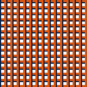 Orange and Navy Plaid