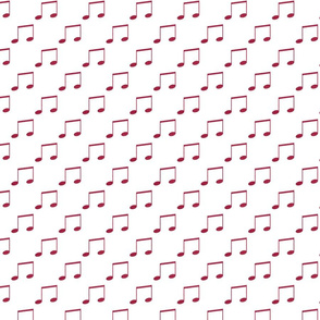 Pink Faux Glitter Music Notes