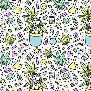 mask small scale / marijuana plant