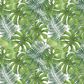 Tropical Watercolor Pattern Small Scale
