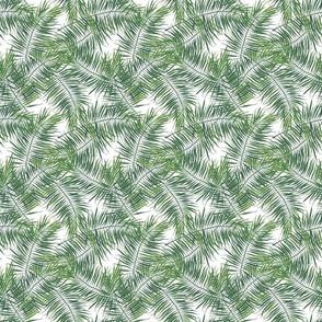 Watercolor Tropical Ferns Medium Scale