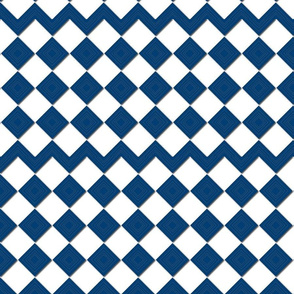 Brown Checkers Blue