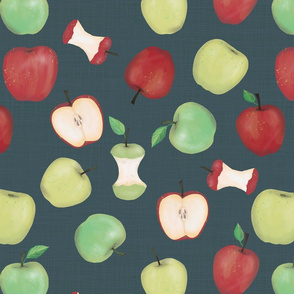 pony up: apple in denim large scale