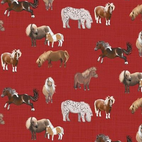 pony up: pasture in barn red