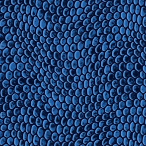 ★ REPTILE SKIN ★ Ultramarine Blue - Large Scale / Collection : Snake Scales – Punk Rock Animal Prints 4