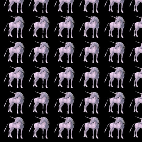Unicorn 3D Black Background, SPSD