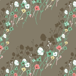 Wildflower Meadow Poppies  Large scale
